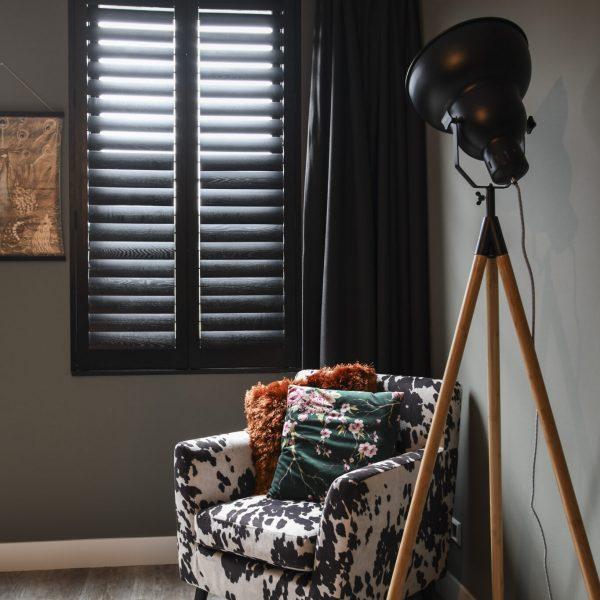 Slaapkamer shutter raamdecoratie - Blend